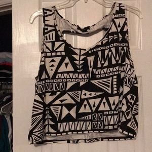 Cute forever 21 crop top that's flowy